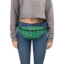 Load image into Gallery viewer, Green Secret Garden Fanny Pack // Bum Bag