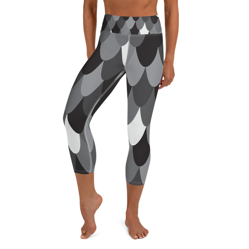 Modern Mermaid High Waisted Capri Leggings