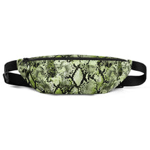 Load image into Gallery viewer, Green Snakeskin Fanny Pack / Bum Bag