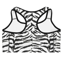 Load image into Gallery viewer, Zebra Print Sports Bra