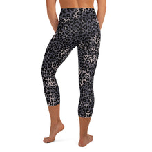Load image into Gallery viewer, Lula Activewear Dark Leopard Print High Waisted Capri Yoga Tights
