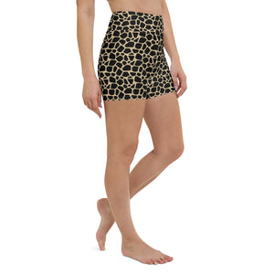 Giraffe Print High Waisted Shorts
