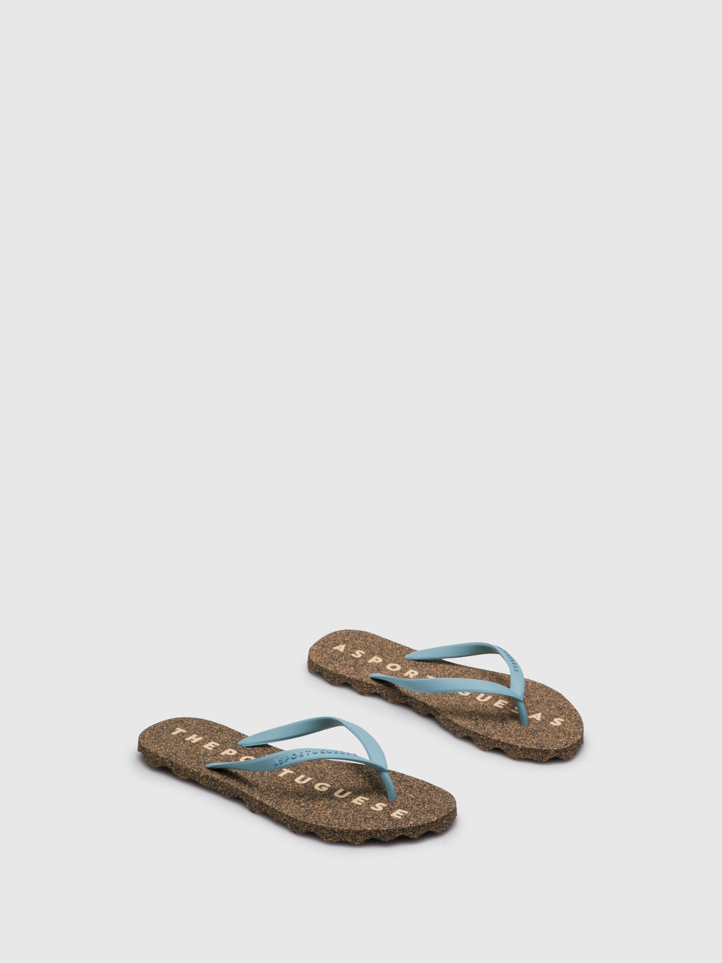ASPORTUGUESAS LightBlue Beach Flip-Flops