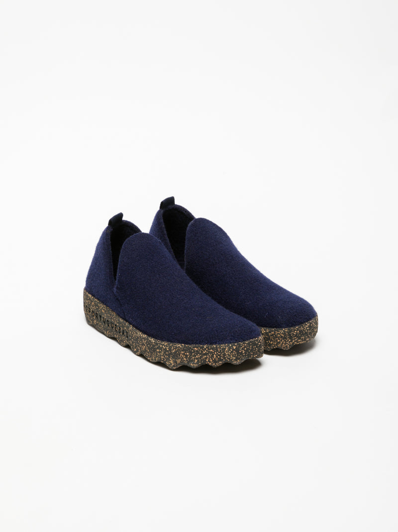 ASPORTUGUESAS Navy Round Toe Ankle Boots