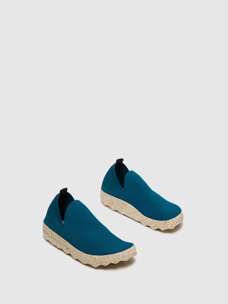 Blue Elasticated Sneakers