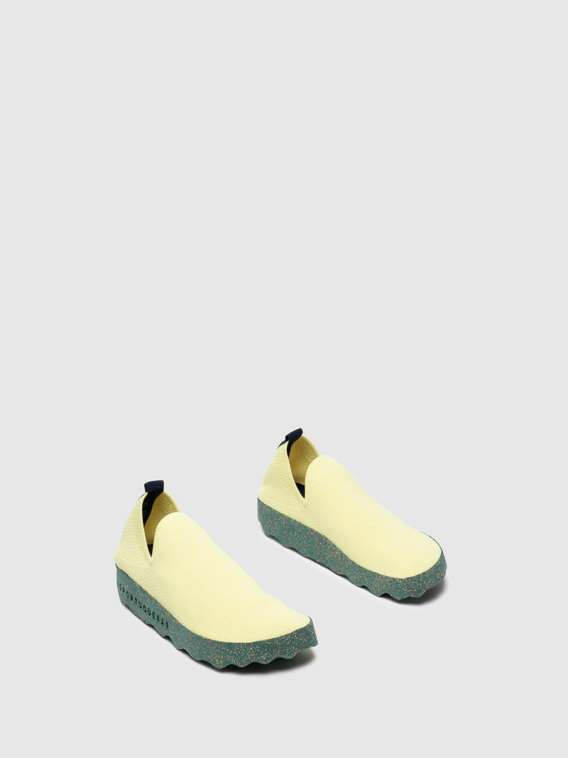 Yellow Elasticated Sneakers