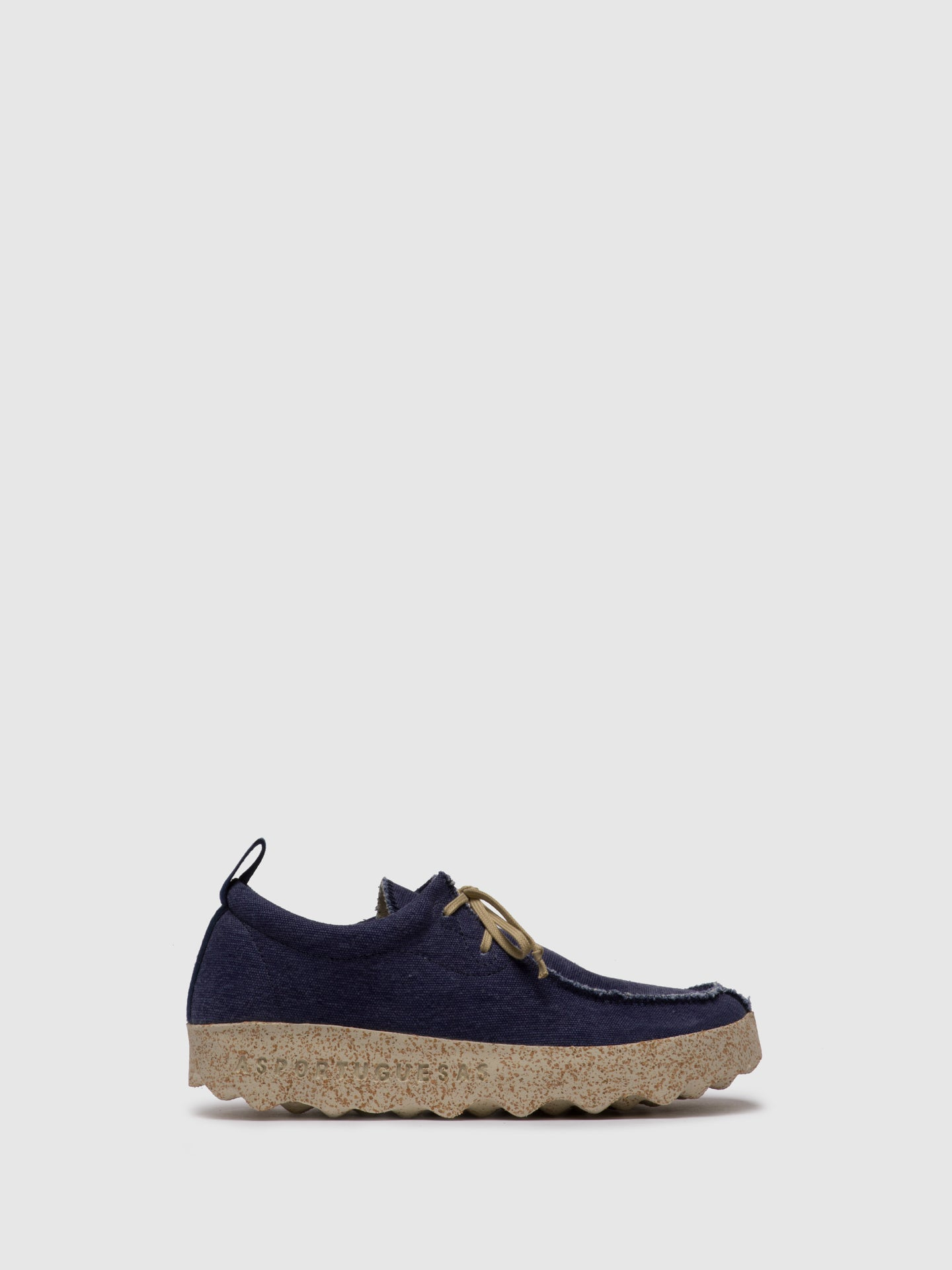 ASPORTUGUESAS Navy Lace-up Trainers