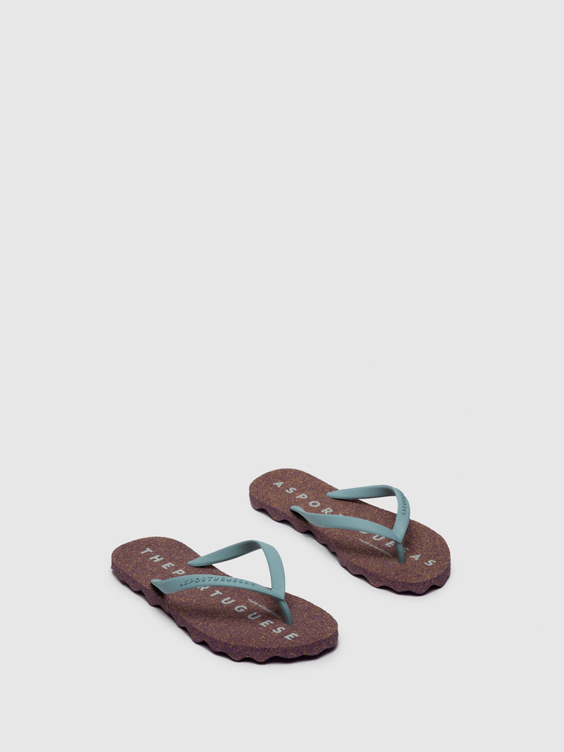 Purple Beach Flip-Flops