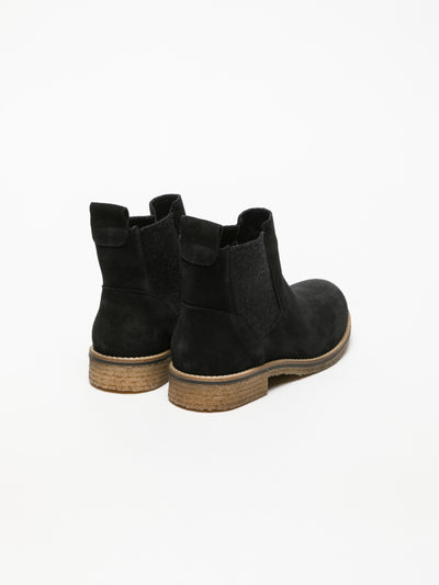 Bos&Co Coal Black Chelsea Ankle Boots