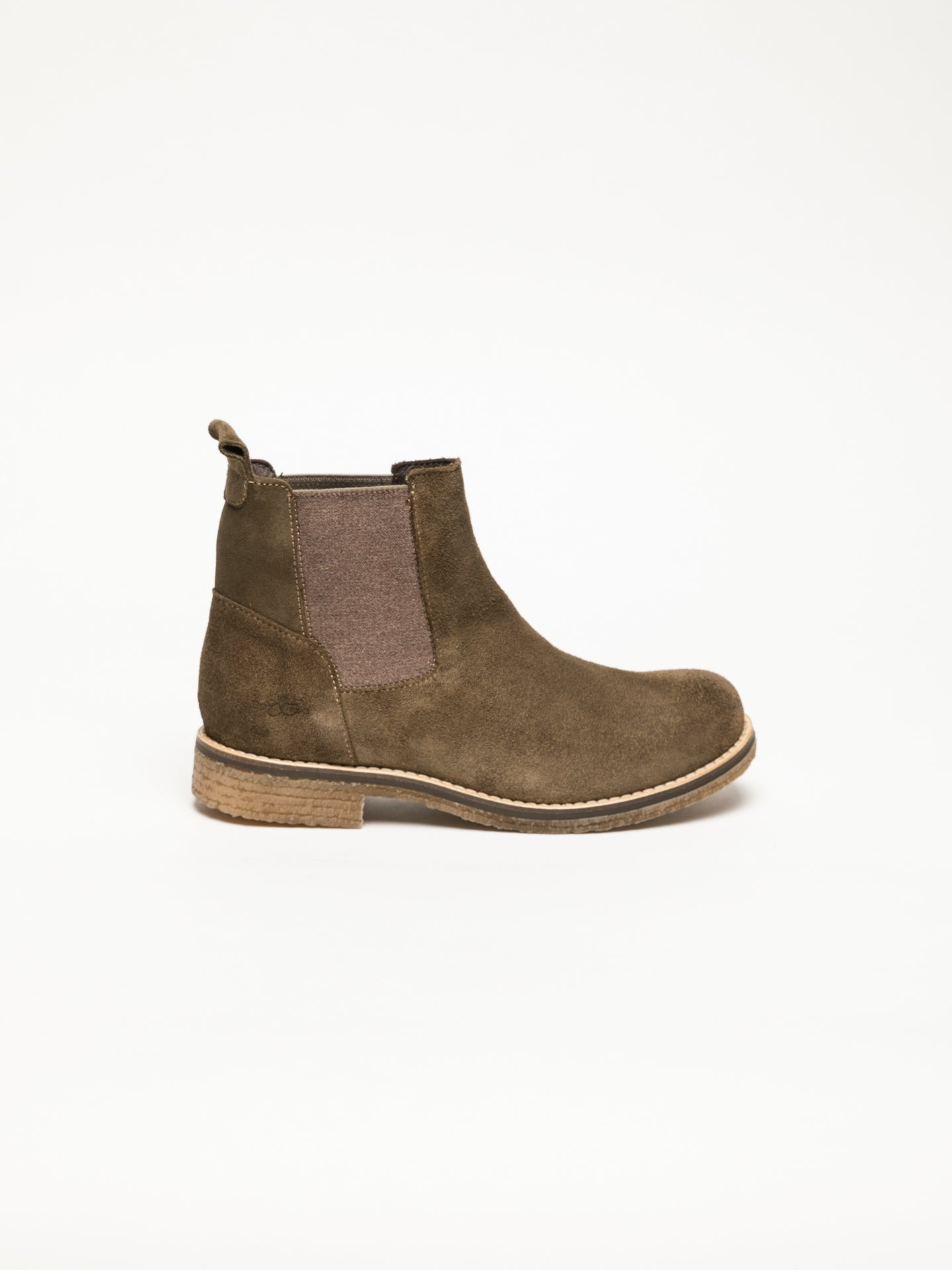 Bos&Co Khaki Chelsea Ankle Boots