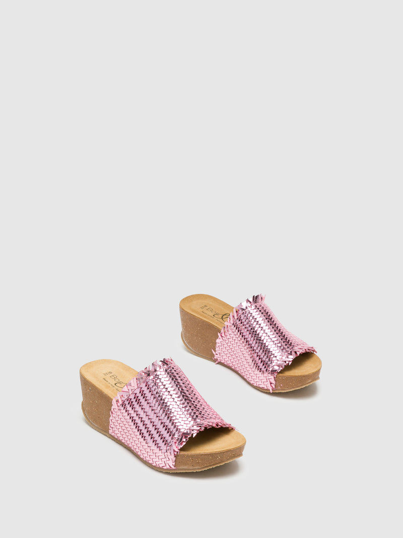 DarkSalmon Wedge Mules