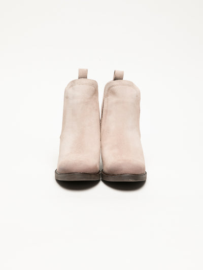 Bos&Co LightPink Round Toe Ankle Boots