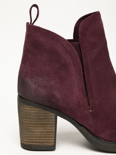Bos&Co SaddleBrown Round Toe Ankle Boots