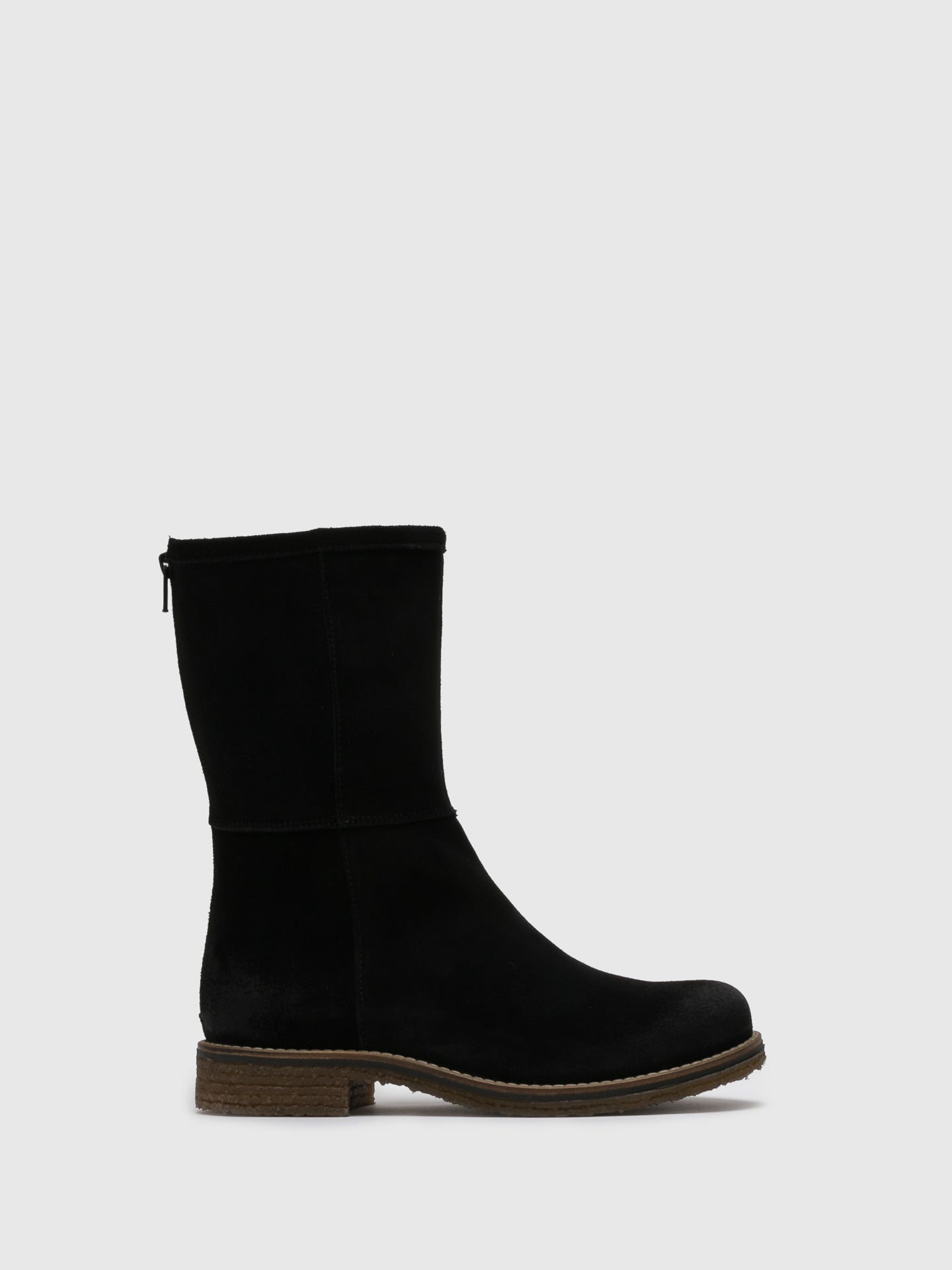 Bos&Co Black Suede Zip Up Boots