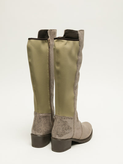 Bos&Co Beige Knee-High Boots