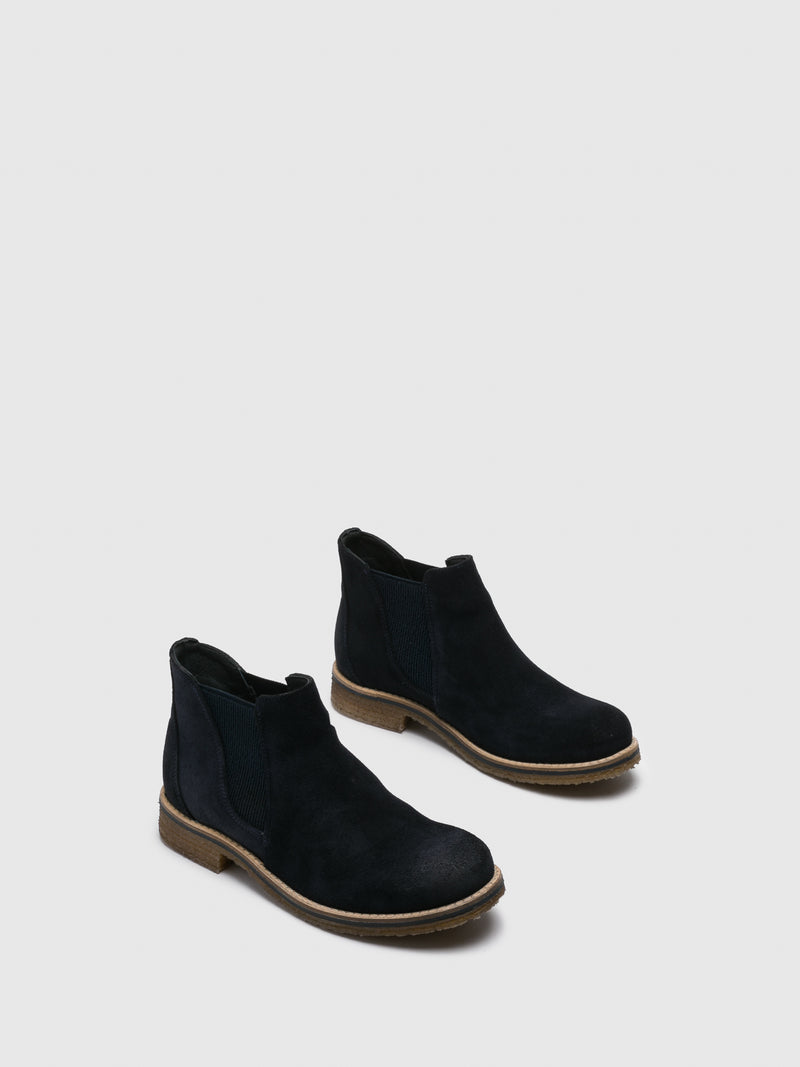 Bos&Co Blue Chelsea Ankle Boots