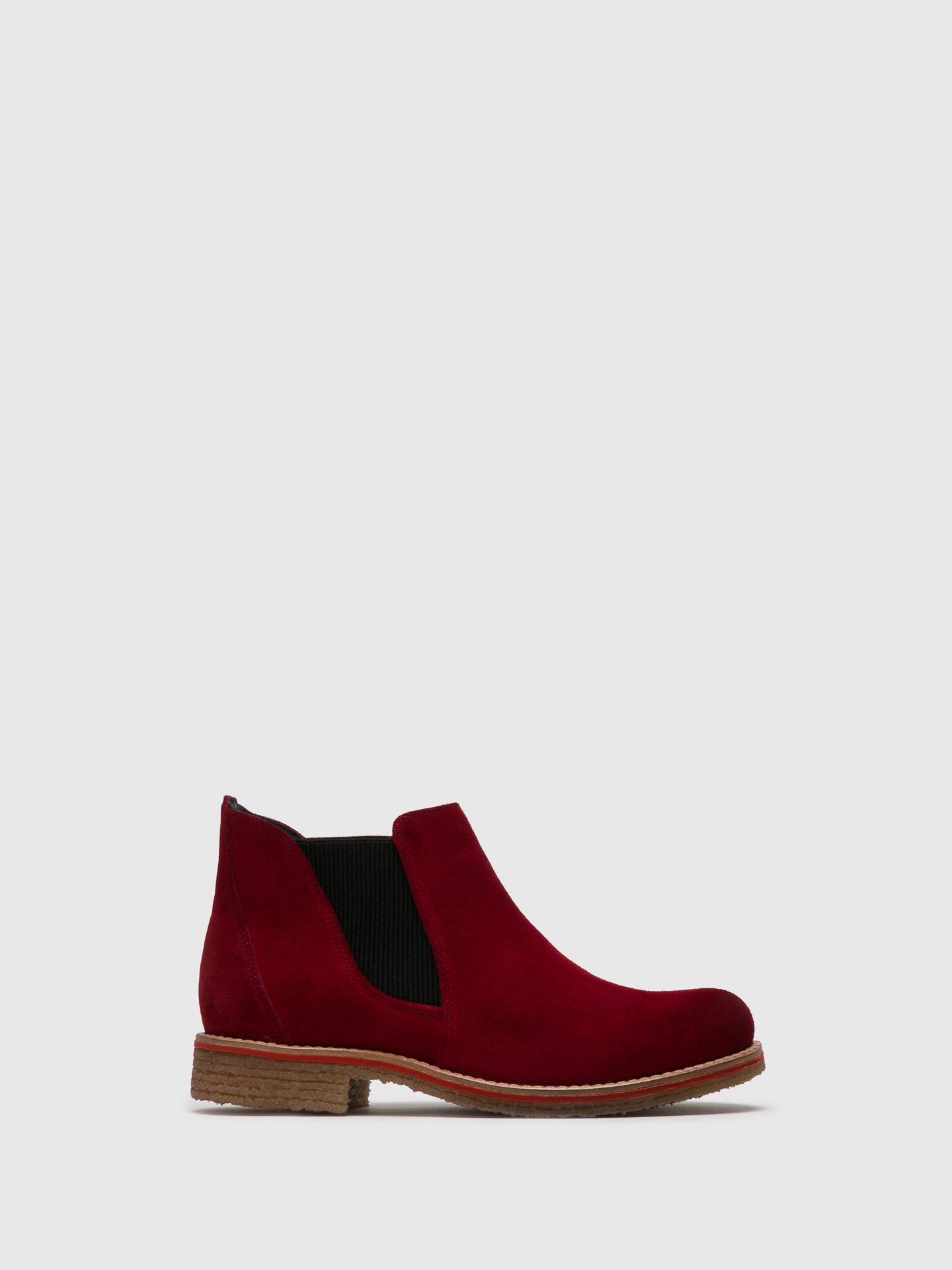 Bos&Co Red Chelsea Ankle Boots