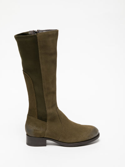 Bos&Co Khaki Knee-High Boots