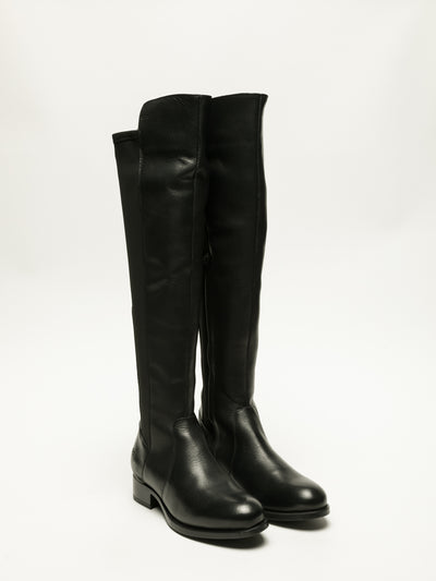 Bos&Co Coal Black Knee-High Boots