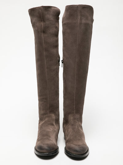 Bos&Co Gray Knee-High Boots