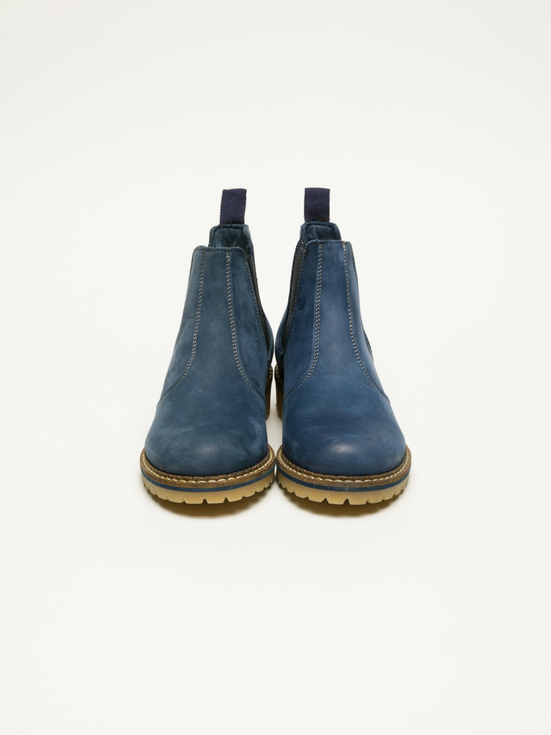 Blue Chelsea Ankle Boots