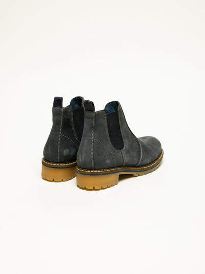 Bos&Co Navy Chelsea Ankle Boots