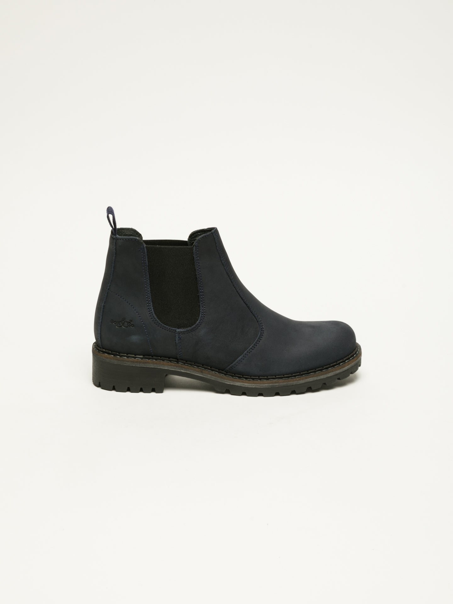 Bos&Co DarkBlue Chelsea Ankle Boots