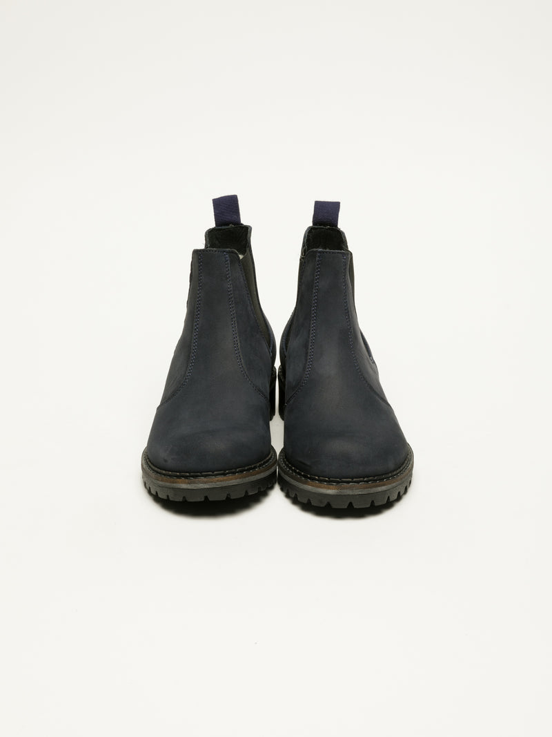 DarkBlue Chelsea Ankle Boots