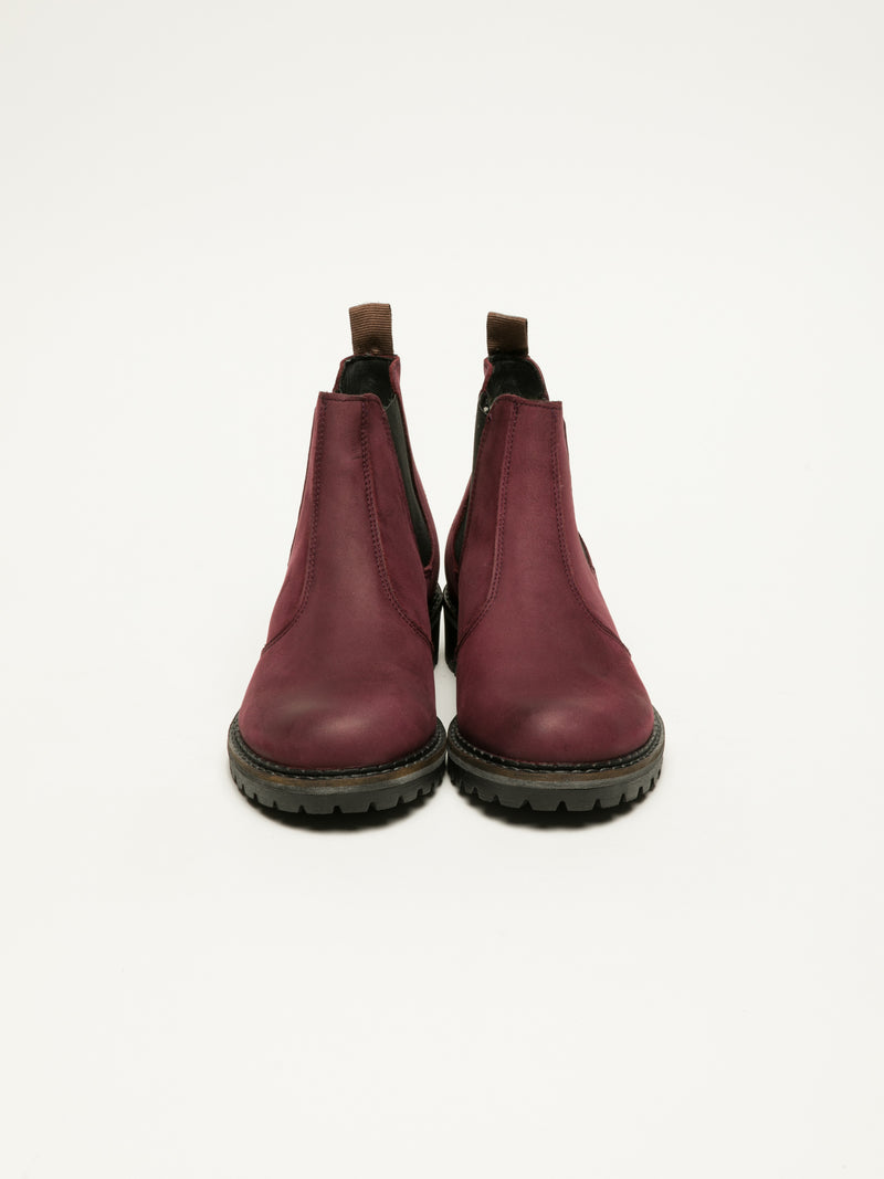 DarkRed Chelsea Ankle Boots