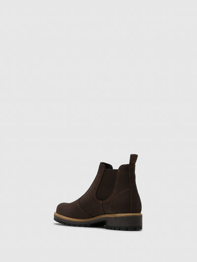 Bos&Co Brown Chelsea Ankle Boots