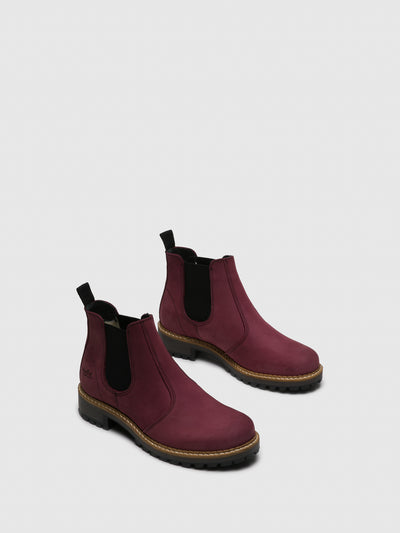 Bos&Co Purple Chelsea Ankle Boots