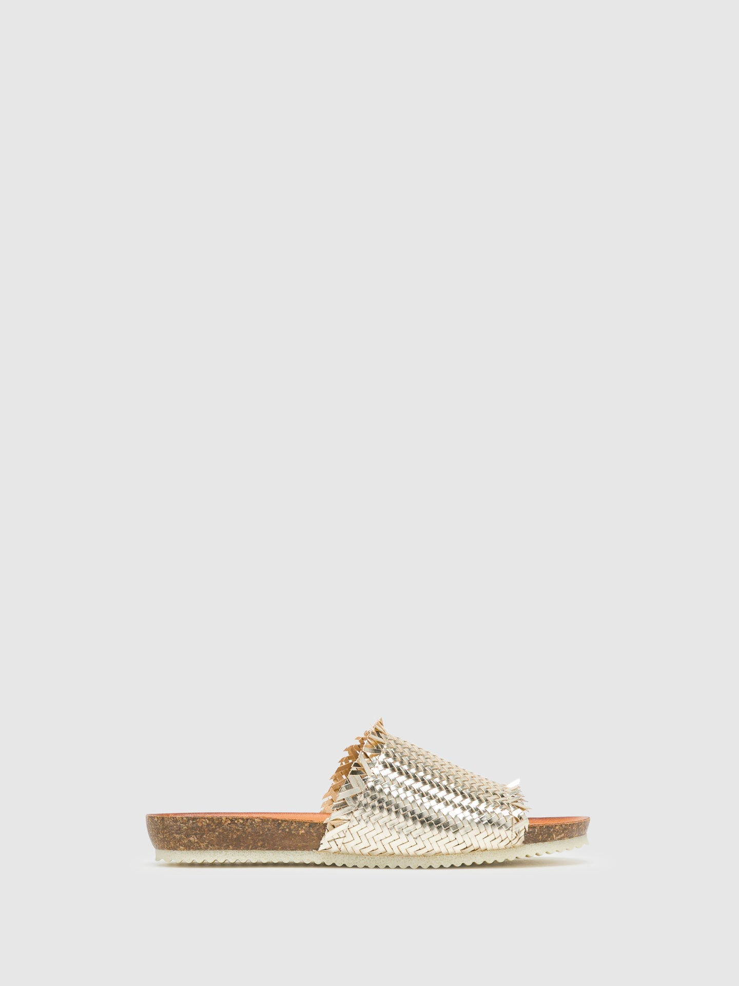 Bos&Co Gold Open Toe Mules