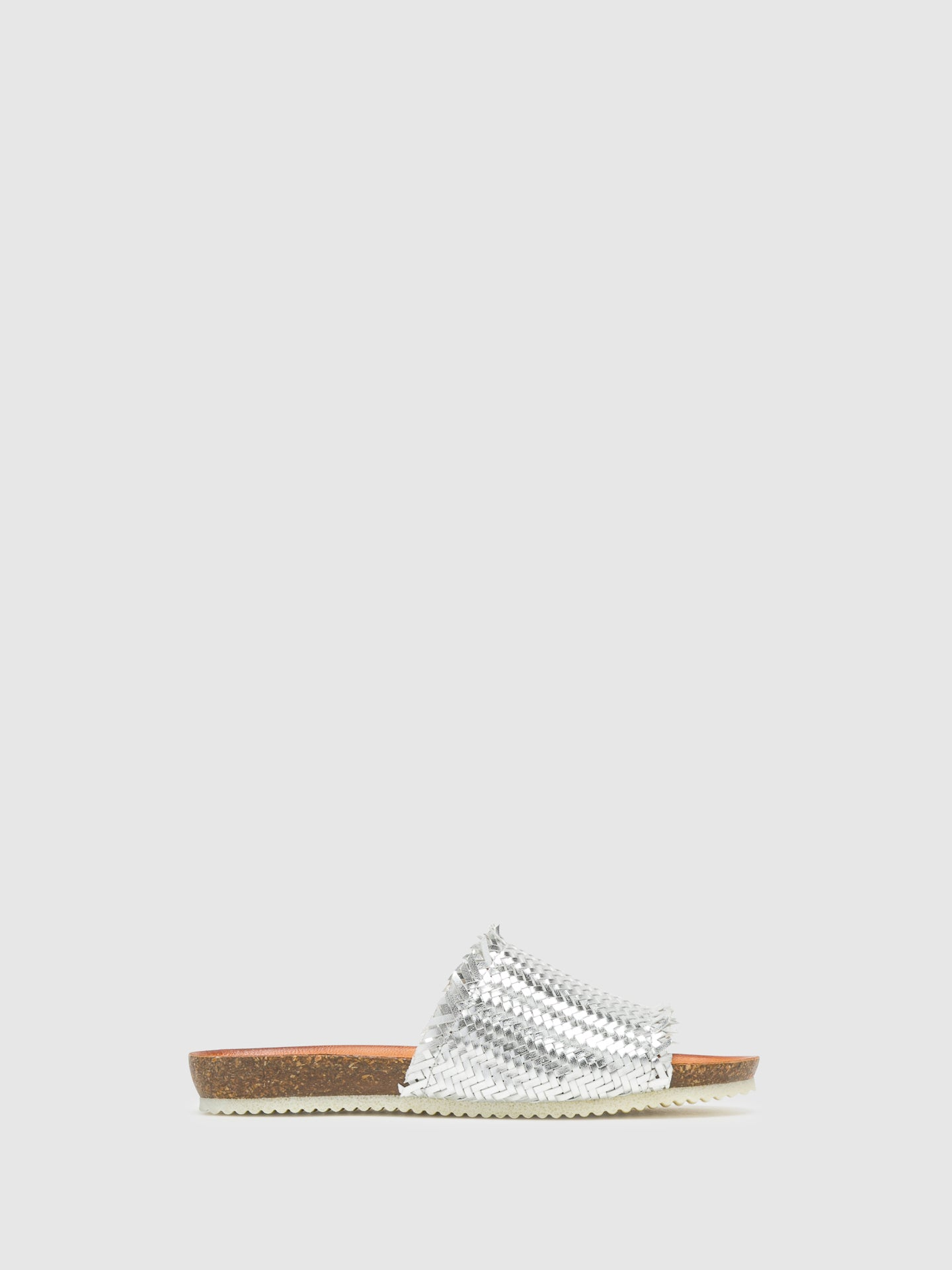 Bos&Co Silver Open Toe Mules