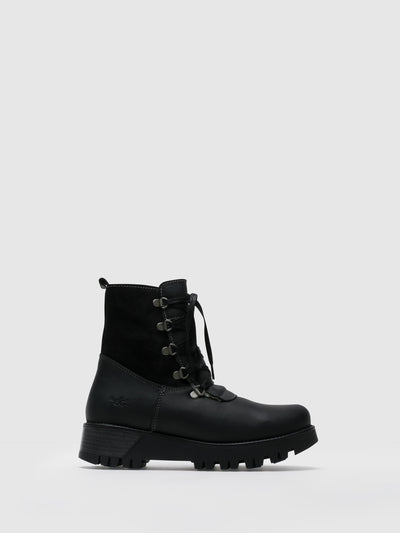 Bos&Co Black Zip Up Boots
