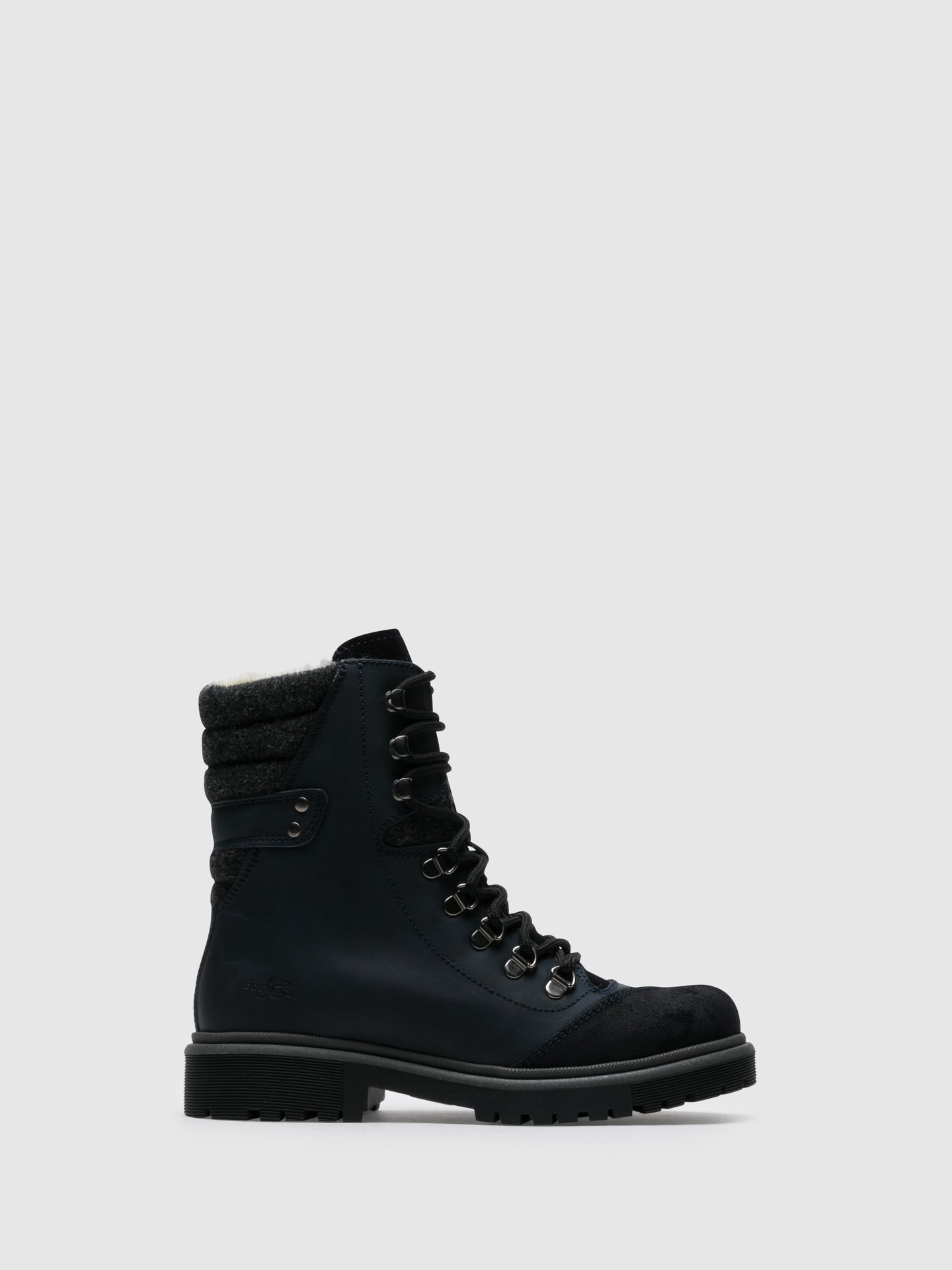 Bos&Co Blue Zip Up Boots