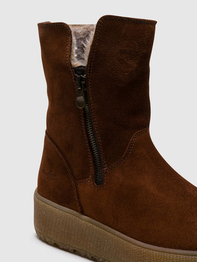 Bos&Co Brown Zip Up Boots