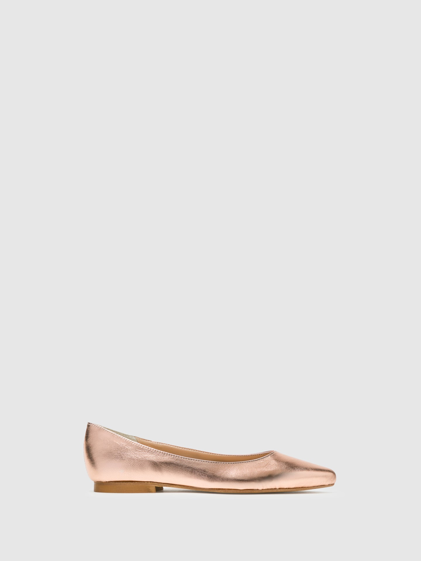 Bos&Co DarkSalmon Pointed Toe Ballerinas