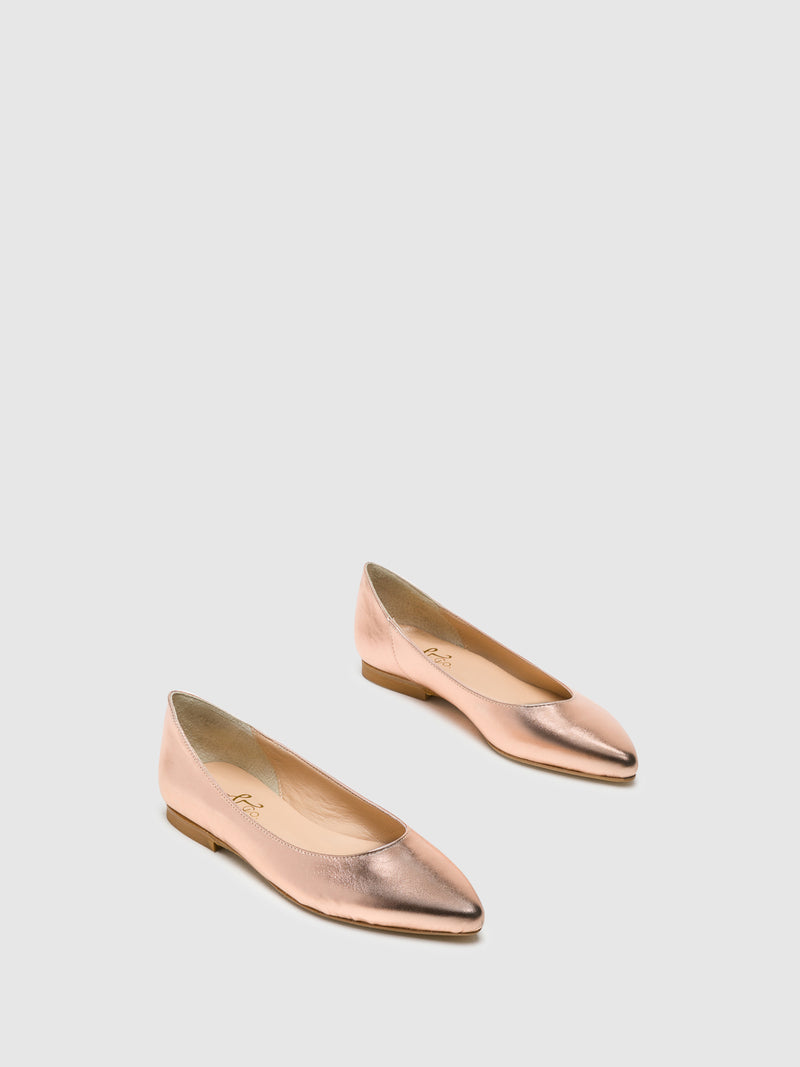DarkSalmon Pointed Toe Ballerinas