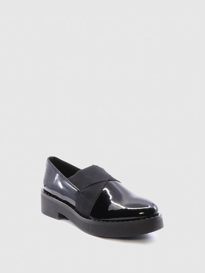 Bos&Co Black Elasticated Shoes