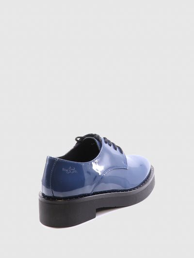 Bos&Co Blue Derby Shoes