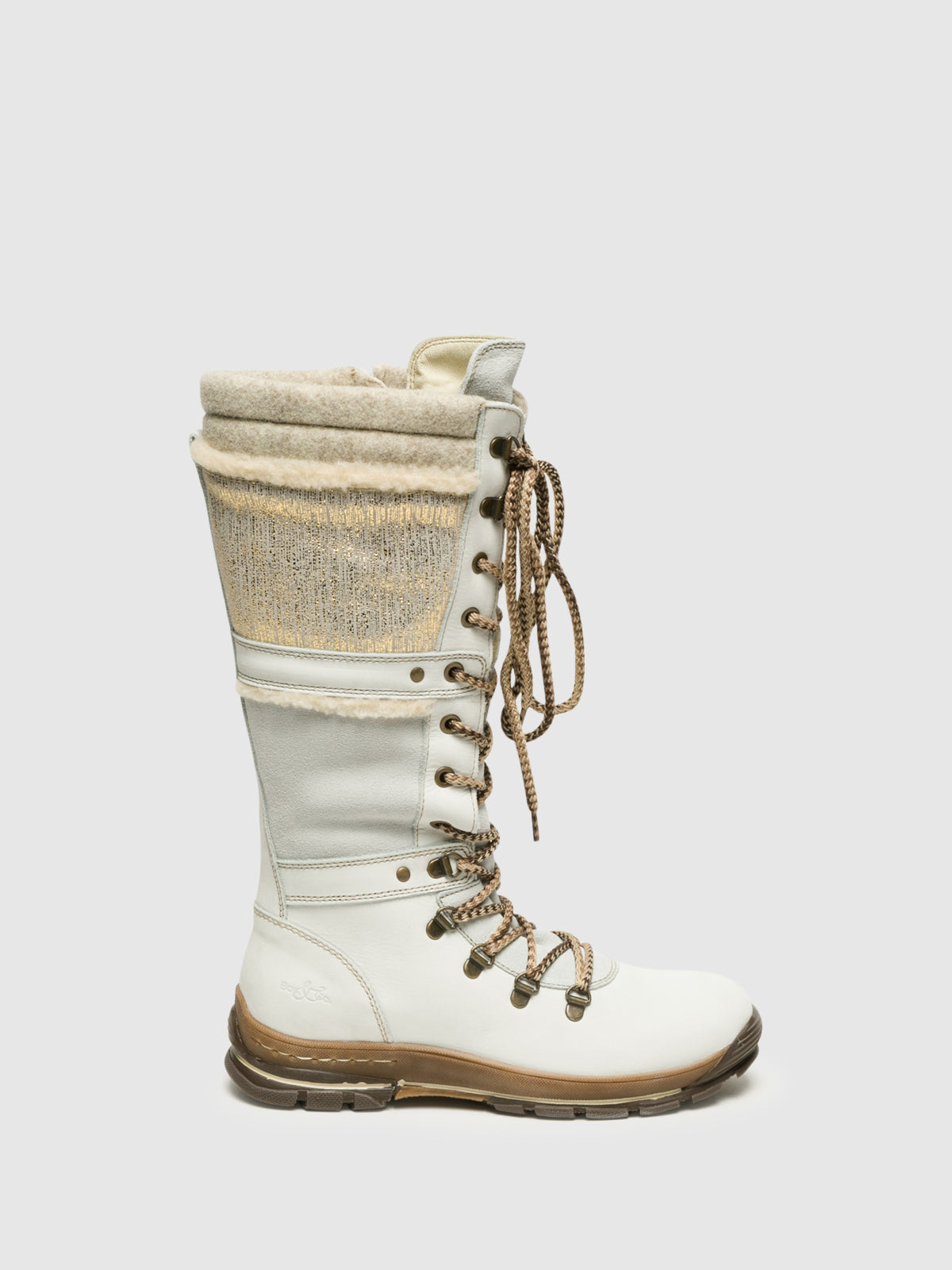 Bos&Co White Knee-High Boots