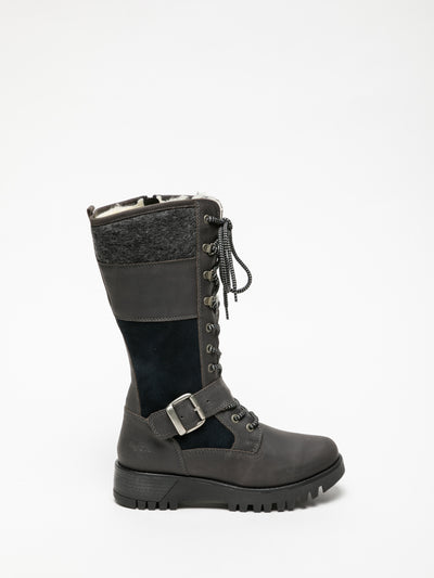 Bos&Co Gray Lace-up Boots