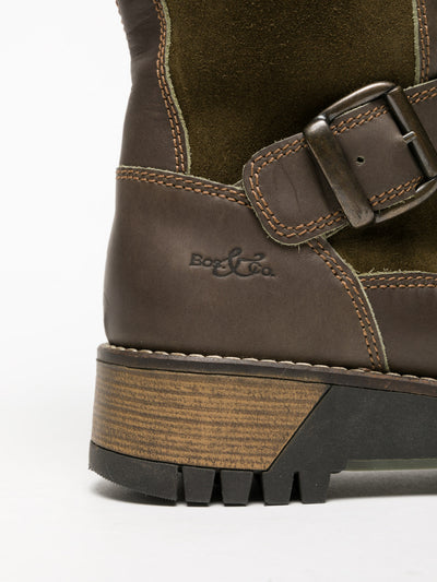Bos&Co Khaki Lace-up Boots