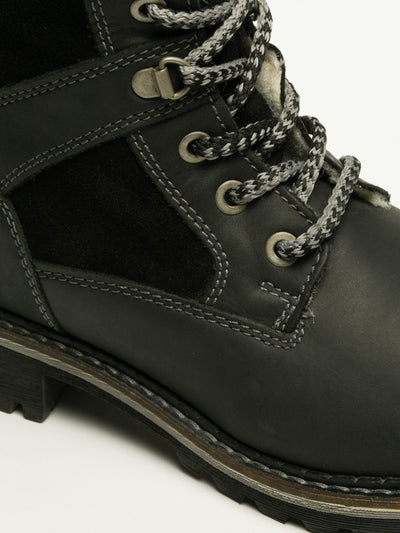 Bos&Co Black Lace-up Boots