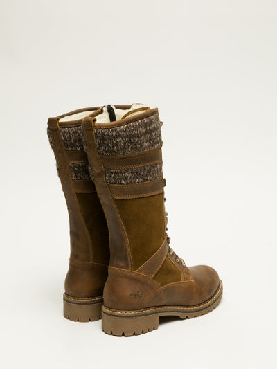 Bos&Co Brown Lace-up Boots