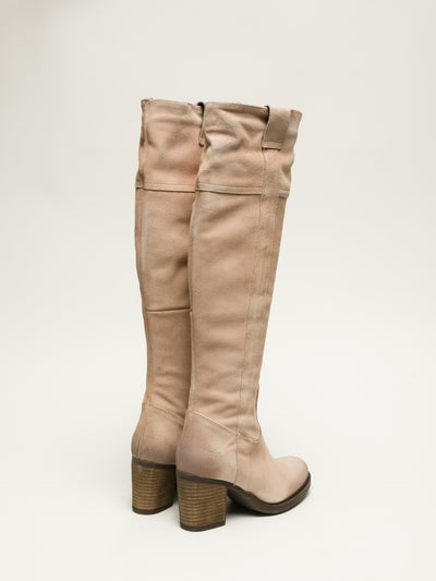 Bos&Co LightPink Knee-High Boots