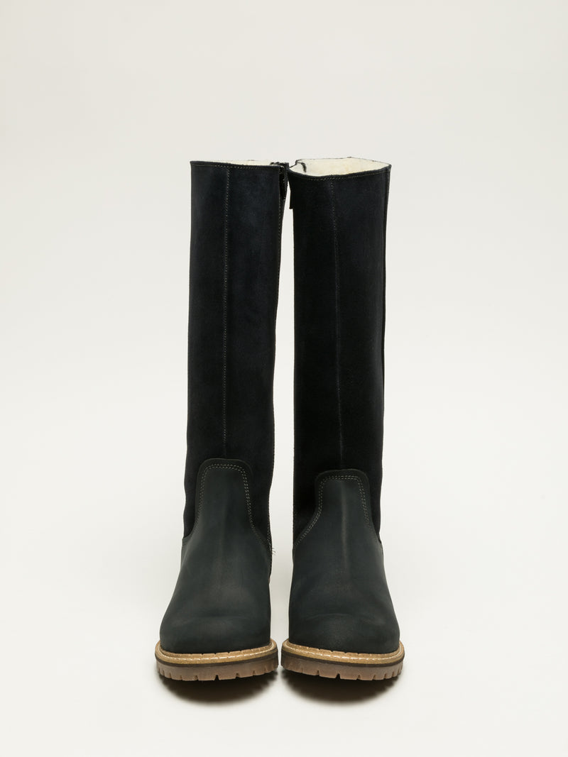 Bos&Co Navy Knee-High Boots