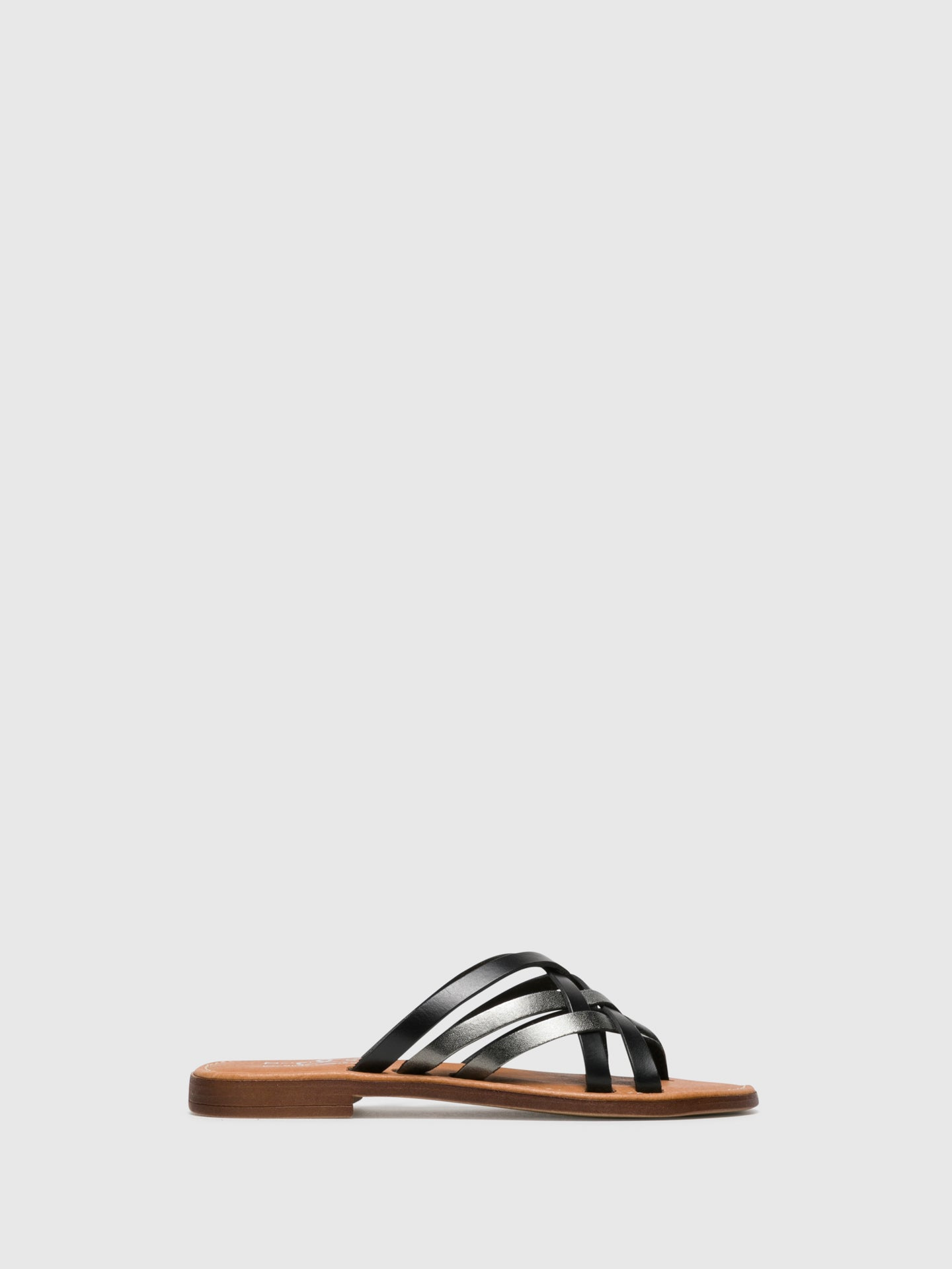 Bos&Co Gray Strappy Sandals