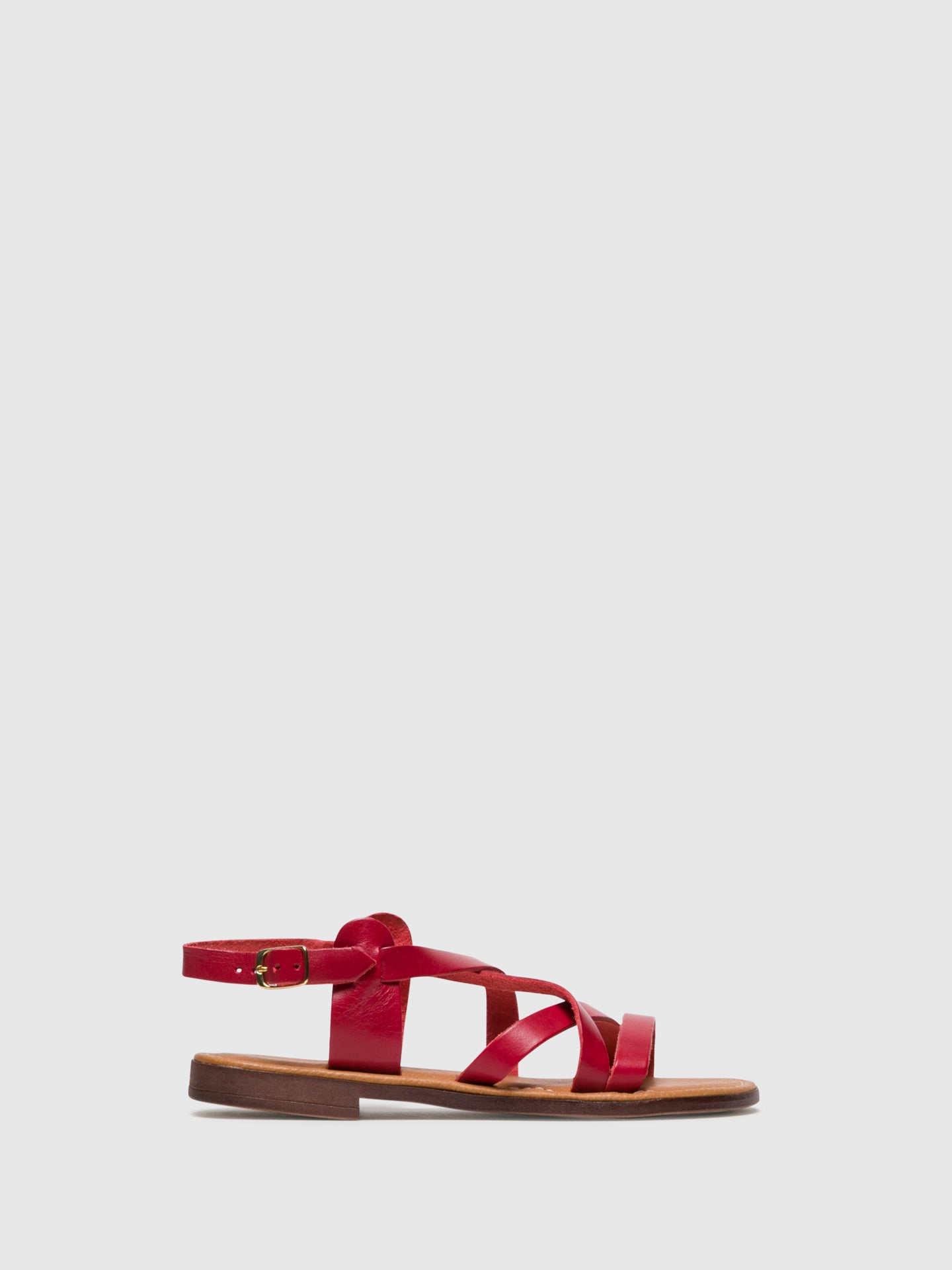 Bos&Co Red Sling-Back Sandals