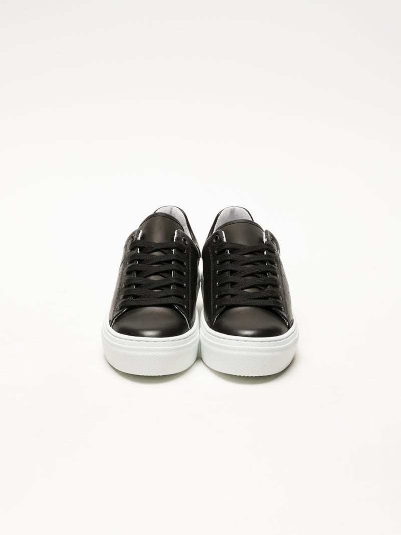 Bos&Co Black Lace-up Sneakers